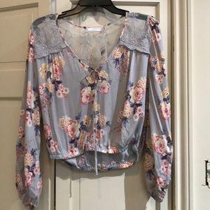 NWT Lush floral boho top medium